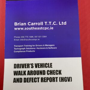 A5 100 Page Duplicate Driver Walkaround Check & Defect Report Books (HGV)